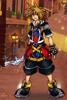 Kingdom Hearts 2 Sora by MagicalMelonBall