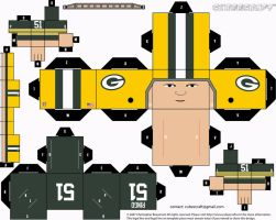 Jim Ringo Packers Cubee by etchings13