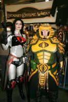 Serpentor and Baroness by Hernandez-Henson