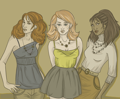 Roxanne, Rose and Dominique by shaiiim