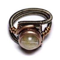 Steampunk Ring Golden Rutile by CatherinetteRings