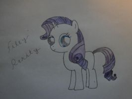 Oh Filly Rarity, You so cute! (Newbie ATG Day 5) by Ocean-Pony