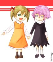 Maka and Chrona by marielsunny88