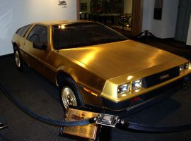 24k Gold Plated DeLorean by UniqueNudes