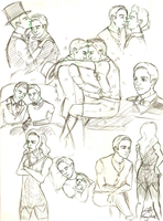 Klaine sketches by Ricoka