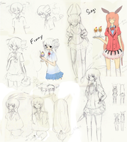 Finny and Sagi Sketches by Usato