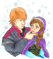 Anna and Kristoff by mlatimerridley