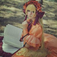 Victorique de Blouise: orange dress by LisaVasya