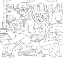 Study Buddies {WIP} by Porkbun-comics