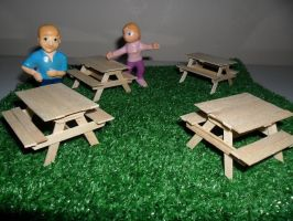 Picnic Tables Scale 1:24 by kayanah