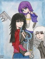 fighting girls :lastyear draw: by lostdarknesslight