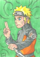 Naruto Sketch Card by ibroussardart