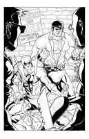 Heroes For Hire:Power Man and Iron Fist Commission by Marvin000