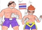 Street Fighter I Sagat/Adon by CARGOCAMP