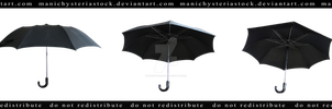 Old Black Umbrella Cut out 3 by ManicHysteriaStock