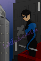 A Nightwing Over Us - Colour by VioletZen