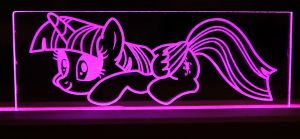 Twilight Sparkle Acrylic LED Picture by steeph-k