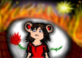 Freedom is through the flames? by Becca--Lou