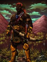 Sudanese fantasy warrior by pagolas