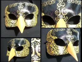Goldfinch Masquerade Mask by Jedi-With-Wings