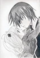 Amu and Ikuto by UchihaSakura666
