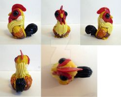 Rooster figurine multiview by TerraLove