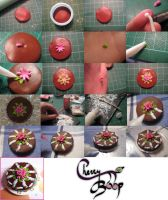 Clay Rose Cake Tutorial by cherryboop