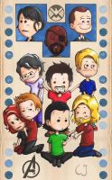 All mini Avengers by Freaky-chan