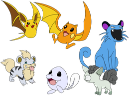 Epic Pokemon Fusions by Sklavenbrause