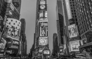 Time square black and white by philipbrunner