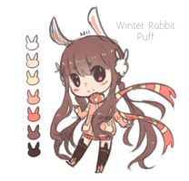 Adopt: Winter Rabbit Puff [CLOSED] by mieille