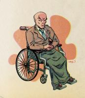 X is for Charles Xavier by sdowner