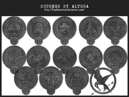 Hunger Games Brushes (3) - District Seals by StayUnnoticed