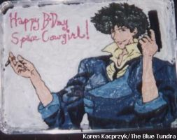 Spike Spiegel Cake by pirateking42