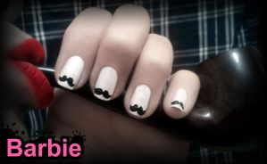 Mustache Nails by BarbieNailArt