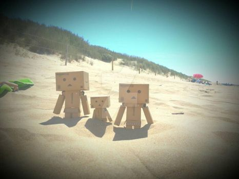 Danbo family by the sea by Alfi-Punker