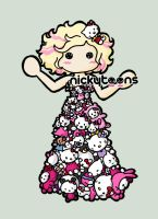 Lady Gaga: Hello Kitty Dress by NickyToons