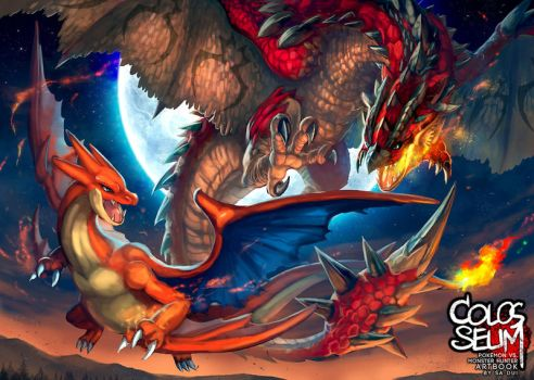 Artbook : Rathalos vs Charizard Y by Sa-Dui