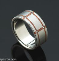 Plaid Copper Diamond Steel by Spexton