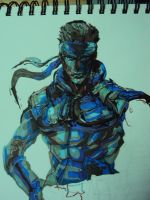 Solid Snake (young) by AndreaSchillaci