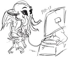 Cthulhu Gamer by Jeppe Roemer by TolkyJr