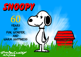 Snoopy 60th Anniversary by ryuuseipro