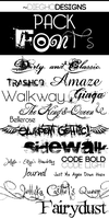 Pack FONTS by DiegHoDesigns
