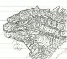 Godzilla 2014 sketch by PrinceofGhouls