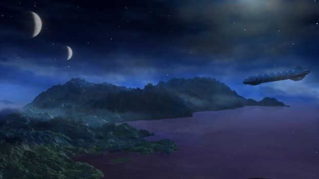 Planetfall by Moonlight by wordsmith101