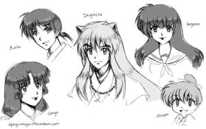 Inuyasha Sketches by spogunasya