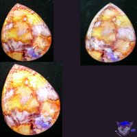 Experimental Pendant: Crackle Stone by NightWolfRose