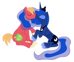 MeadowBreeze Request - Luna x Big Mac by Pustulioooooo