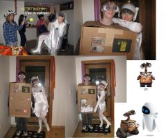 Wall-E and Eva Costumes by VampireBlackCat