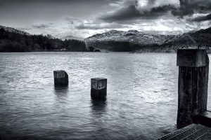 Poles in the Loch Mono by CharmingPhotography